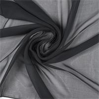 Black Silk Chiffon