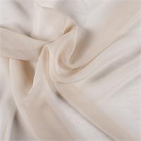 Beige Wide Silk Chiffon