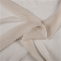 Pale Peach Wide Silk Chiffon