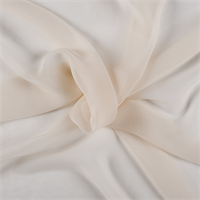 Cream Wide Silk Chiffon