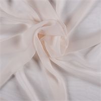 Vanilla Wide Silk Chiffon