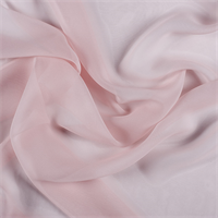 Blush Pink Wide Silk Chiffon