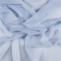 Sky Blue Wide Silk Chiffon