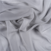 Light Gray Wide Silk Chiffon