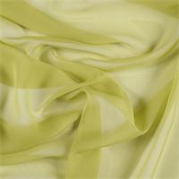 Chartreuse Wide Silk Chiffon