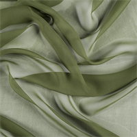 Grass Green Wide Silk Chiffon