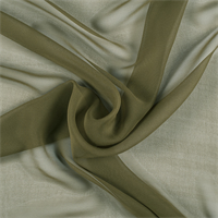 Moss Green Wide Silk Chiffon