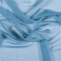 Pale Blue Wide Silk Chiffon