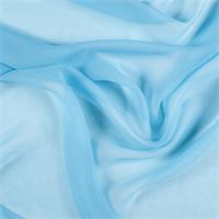 Aqua Wide Silk Chiffon