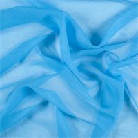 Turquoise Wide Silk Chiffon