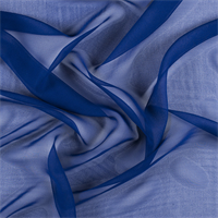 Blue Wide Silk Chiffon