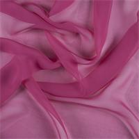 Fuschia Wide Silk Chiffon