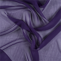 Purple Wide Silk Chiffon