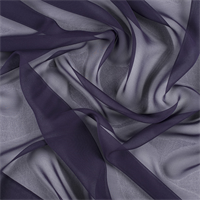 Dark Purple Wide Silk Chiffon