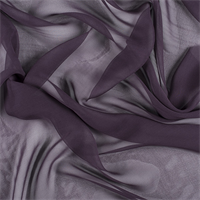 Aubergine Wide Silk Chiffon