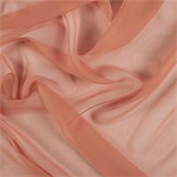 Tangerine Wide Silk Chiffon