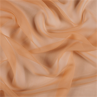 Light Orange Wide Silk Chiffon