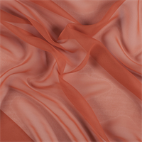 Orange Wide Silk Chiffon