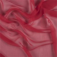 Bright Red Wide Silk Chiffon