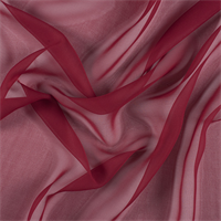 Dark Red Wide Silk Chiffon