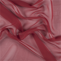Red Wide Silk Chiffon