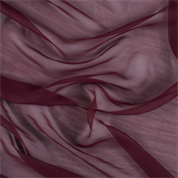 Burgundy Wide Silk Chiffon