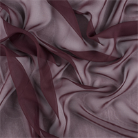 Wine Wide Silk Chiffon