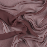 Rust Wide Silk Chiffon
