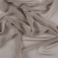 Bronze Wide Silk Chiffon