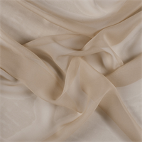 Golden Tan Wide Silk Chiffon