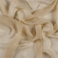 Gold Wide Silk Chiffon