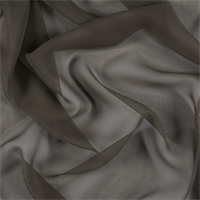 Olive Brown Wide Silk Chiffon