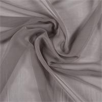 Taupe Wide Silk Chiffon