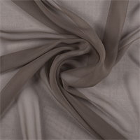 Brown Wide Silk Chiffon