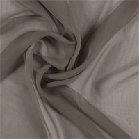 Latte Wide Silk Chiffon