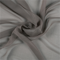 Dark Taupe Wide Silk Chiffon