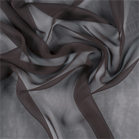 Dark Brown Wide Silk Chiffon