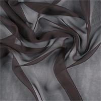 Dark Brown Wide Silk Chiffon