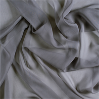 Silver Gray Wide Silk Chiffon