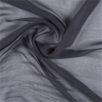 Dark Gray Wide Silk Chiffon