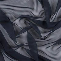 Navy Blue Wide Silk Chiffon