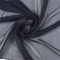 Midnight Navy Wide Silk Chiffon