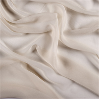 Soft Yellow Crinkled Silk Chiffon