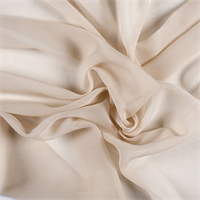 Pale Peach Crinkled Silk Chiffon