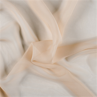 Bisque Crinkled Silk Chiffon