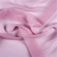 Bubble Gum Crinkled Silk Chiffon