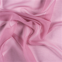 Carnation Pink Crinkled Silk Chiffon