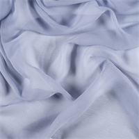 Steel Blue Crinkled Silk Chiffon