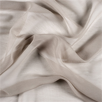 Light Taupe Crinkled Silk Chiffon