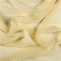 Yellow Crinkled Silk Chiffon